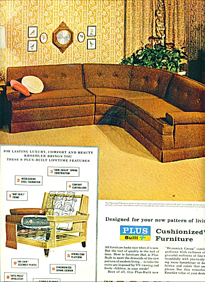 Kroehler furniture manufacturer ad 1956 (Image1)