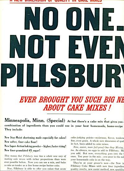 Pillsbury complete cake mix ad 1956 (Image1)