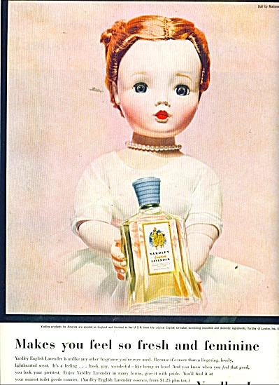 1956 Yardley Cissy Madame Alexander Doll Ad #2
