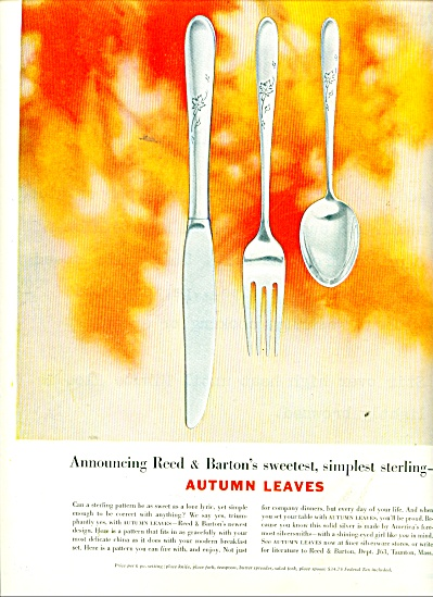 Autumn Leaves sterling ad 1956 (Image1)