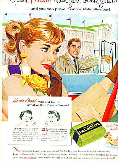1956 PALMOLIVE SOAP AD Bill Randall ART (Image1)