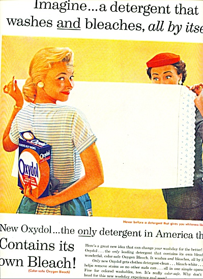 Oxydol detergent with bleach ad 1956 (Image1)