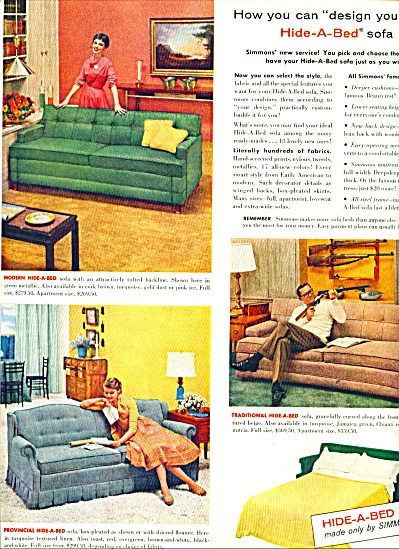 Simmons hide-a-bed ad 1956 (Image1)