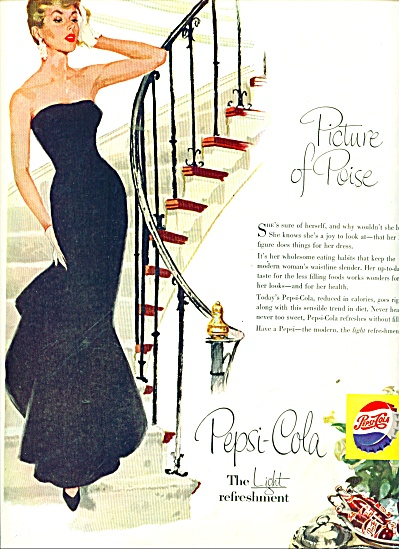 1956 Pepsi Cola AD Picture of Poise LADY (Image1)