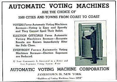 Automatic voting machine corporation ad 1946 (Image1)