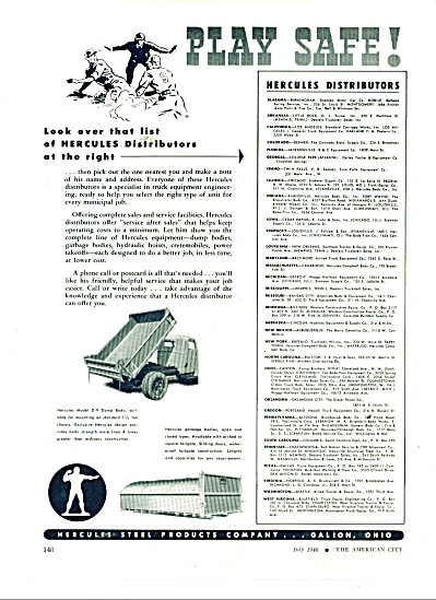 Hercules Steel products company ad 1946 (Image1)