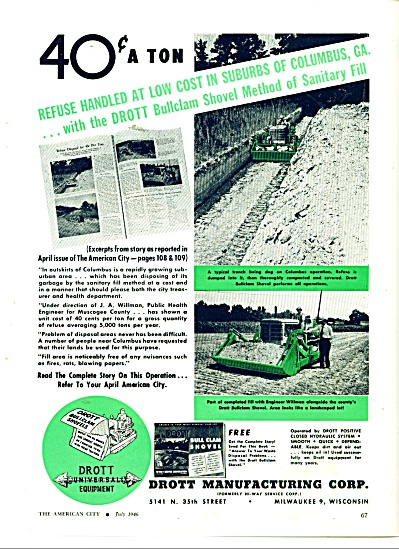 Drott Manufacturing Corp. ad 1946 (Image1)