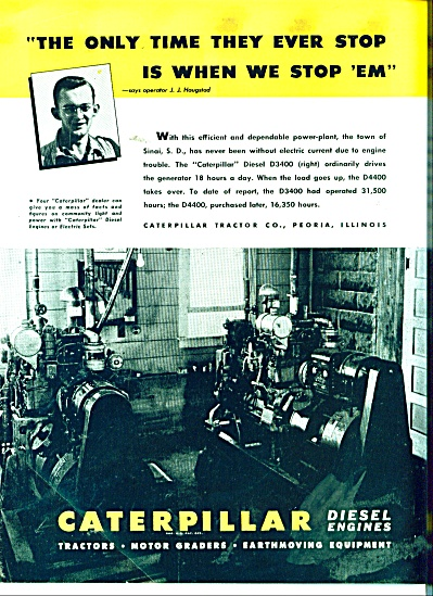 Caterpillar Diesel Engines Ad 1946