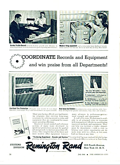 Remington Rand systems division ad 1946 (Image1)