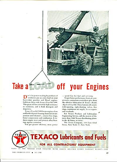 1946 Texaco URSA OIL LUBRICANT AD (Image1)