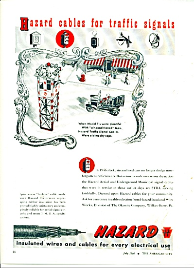 Hazard insulated wires and cables ad 1946 (Image1)
