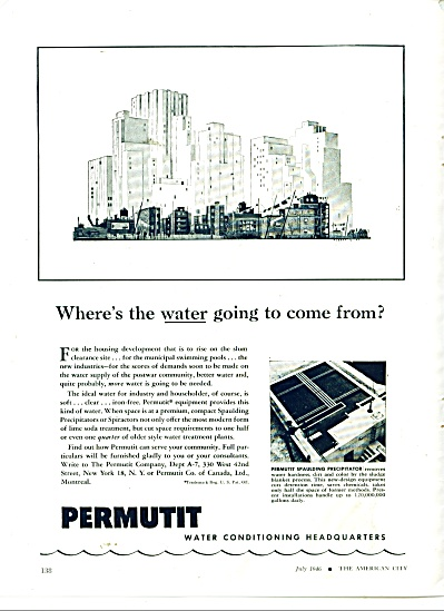 Permutit water conditioning headquarters ad (Image1)