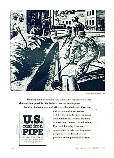U. S. Cast Iron Pipe ad 1946 (Image1)