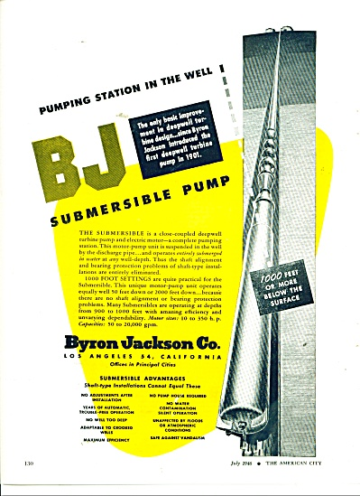 BJ Submersible pump-Byron Jackson Co. ad (Image1)