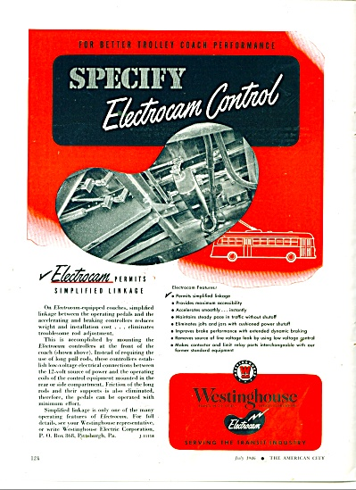 Westinghouse Electrocam control ad 1946 (Image1)