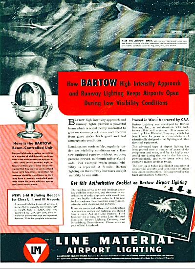 Line Material Airport lighting ad 1946 (Image1)