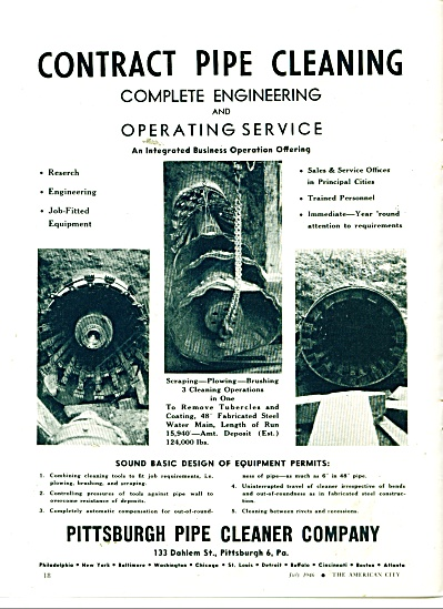 Pitsburgh Pipe Cleaner company ad 1946 (Image1)