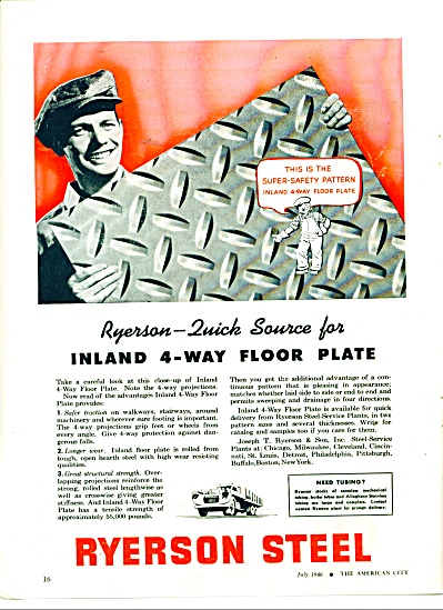 Ryerson Steel company ad 1946 (Image1)