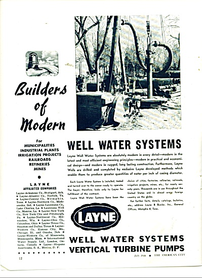 Layne well water systems ad 1946 (Image1)