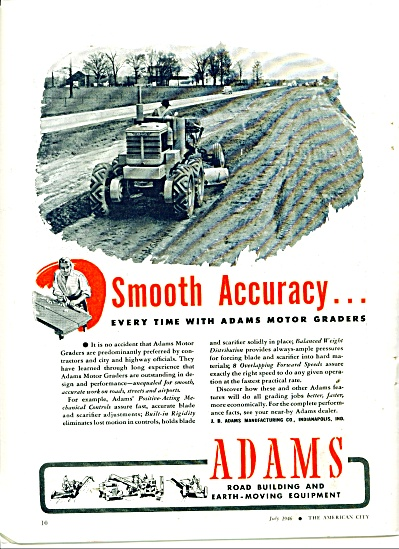 Aams road building equipment ad 1946 (Image1)