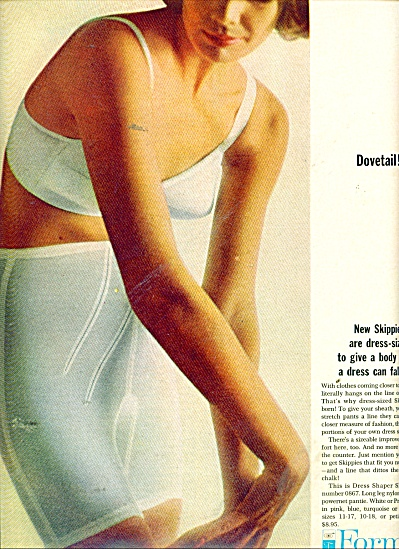 1964 Formfit-dress Shaper Skippies Ad