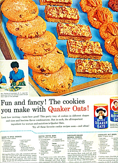 Quick Quaker oats and Mothers oats ad 1964 (Image1)