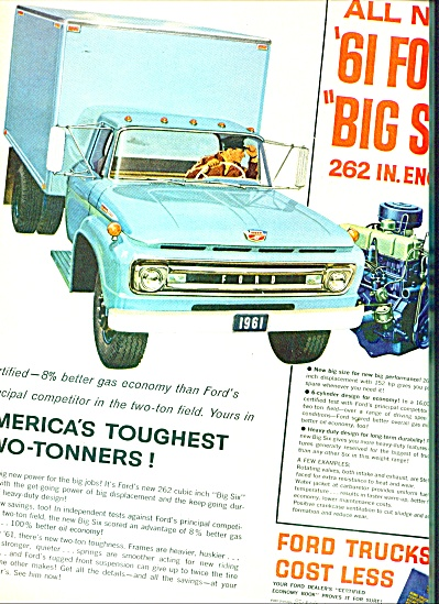 1961 Ford Trucks Two Tonner Ad