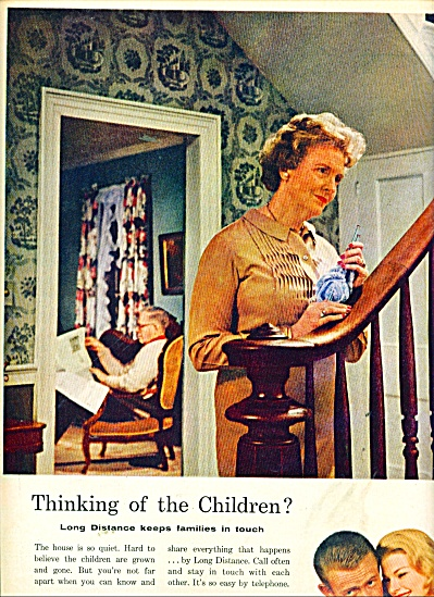 Bell Telephone system ad 1961 THINK OF CHILDREN (Image1)