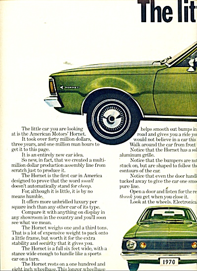 Amreican Motors' Hornet automobile ad 1969 (Image1)