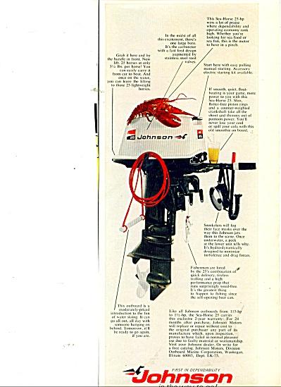 Johnson outboard motors ad 1970 (Image1)