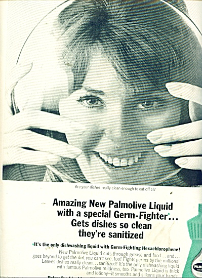 Palmolive liquid dishwashing ad 1964 (Image1)