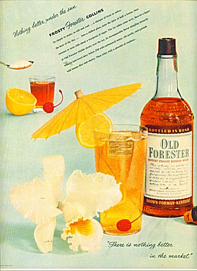 1964 Old Forester Kentucky whiskey AD (Image1)