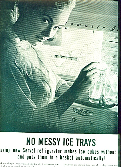 Servel refrigerator -No messy ice trays ad (Image1)