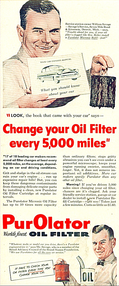 PurOlator oil filter ad 1954 (Image1)