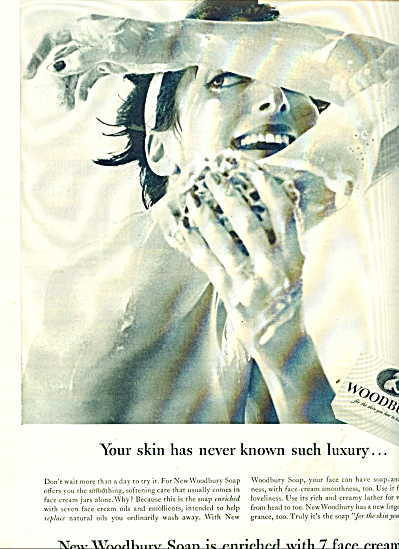 1954 Woodbury Soap AD Nude Woman in Shower (Image1)