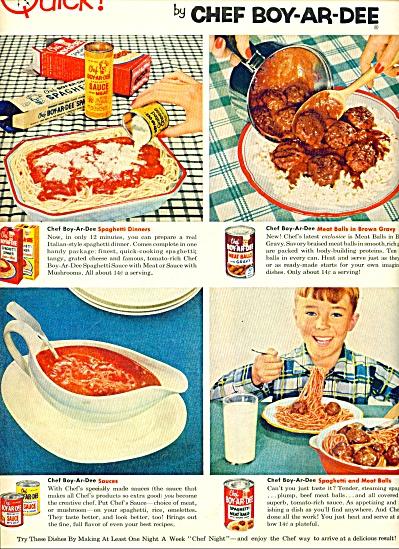 Chef Boyardee meals ad 1954 (Image1)
