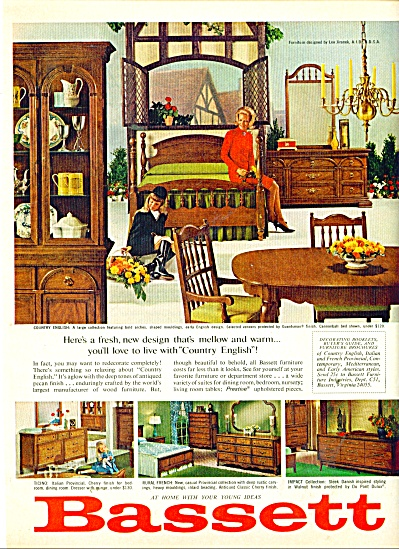 Bassett Furniture Ad 1965, Bassett Furniture Louisville