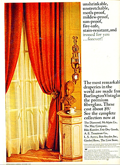 Burlington Vistaglass draperies ad 1965 (Image1)