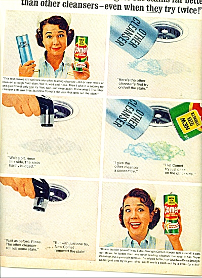 Comet cleaner - JANE WITHERS  - ad 1965 (Image1)