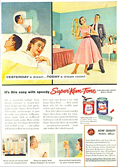 Super Kem Tone wall paints ad 1956 (Image1)