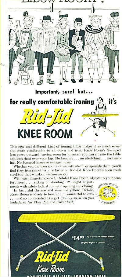 Rid-Jid all steel ironing table ad 1956 (Image1)