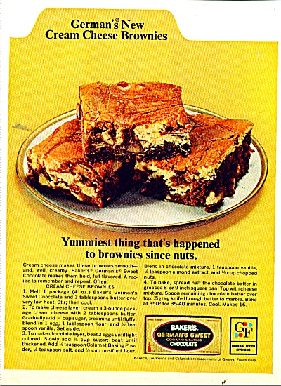 Baker's German's sweet chocolate ad 1965 (Image1)
