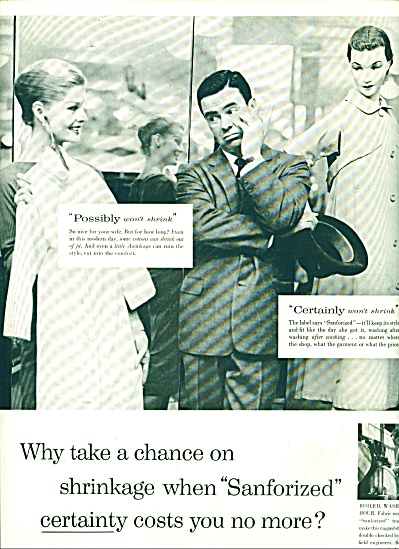 1956 Sanforized trademark ad Model - Man (Image1)