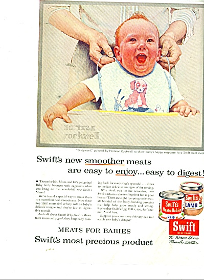 1956 Swift Baby  Food AD  NORMAN ROCKWELL (Image1)