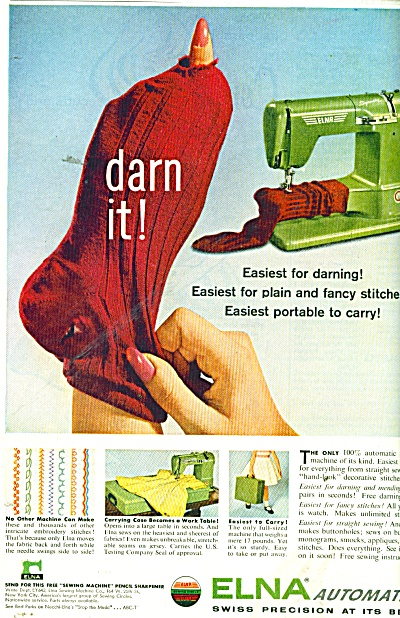 Elna Automatic sewing machine ad 1956 (Image1)