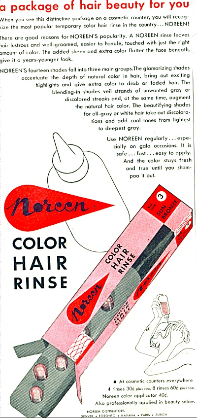 Noreen color hair rinse ad 1956 (Image1)