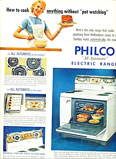 Philco electric range ad 1956 (Image1)