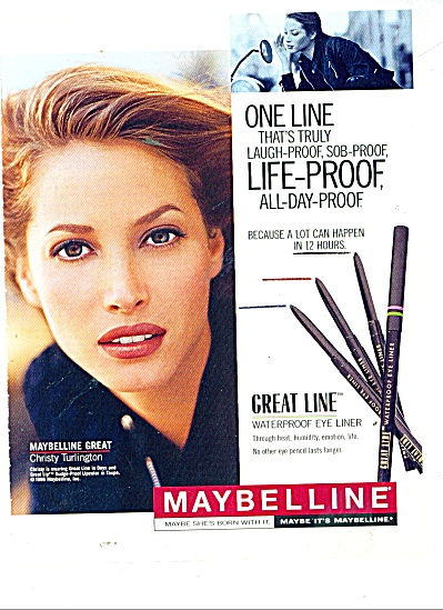 Maybelline - CHRISTY TURLINGTON  ad 1996 (Image1)