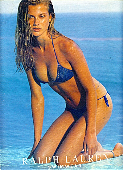 1999 RALPH LAUREN SWIMWEAR AD Young MODEL (Image1)