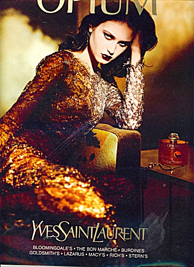 1999 Opium - Yes Saint Laurent ad DARK MODEL (Image1)